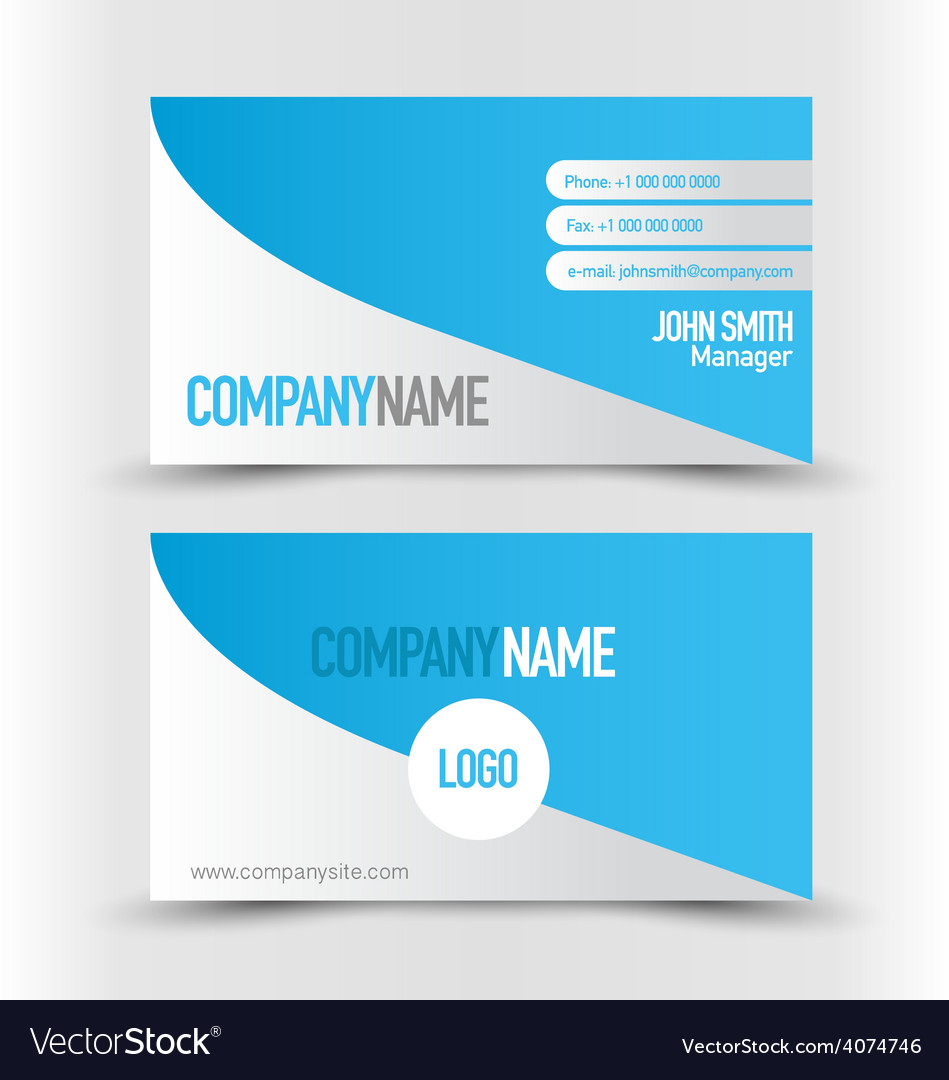 Business card design set template for company vector | Price: 1 Credit (USD $1)