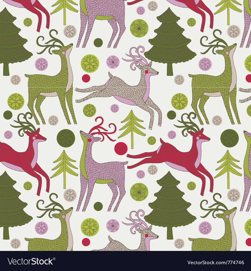 Deer xmas print vector | Price: 1 Credit (USD $1)