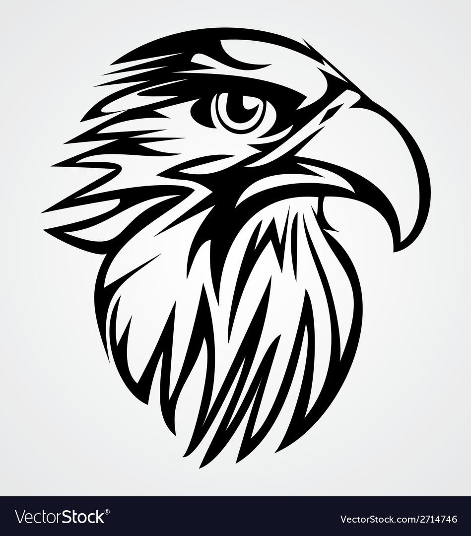 Eagle head tribal vector | Price: 1 Credit (USD $1)