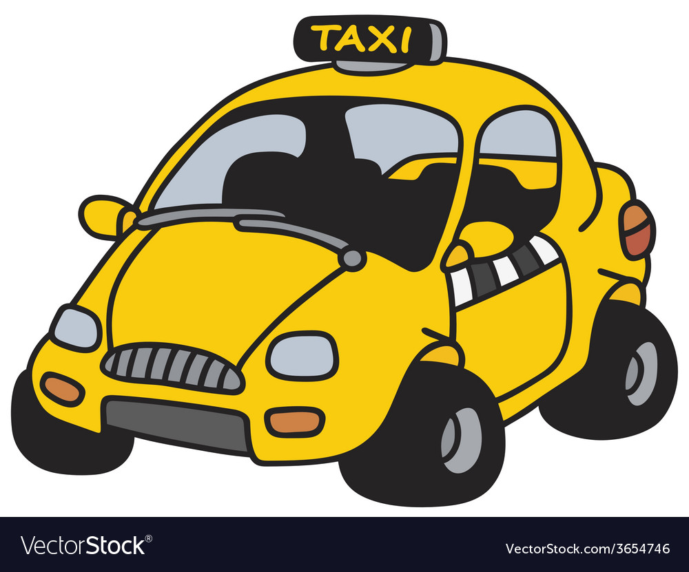 Funny taxi vector | Price: 1 Credit (USD $1)