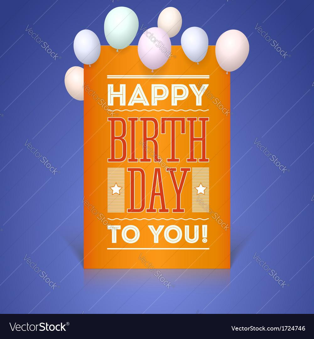 Greeting card happy birthday vector | Price: 1 Credit (USD $1)