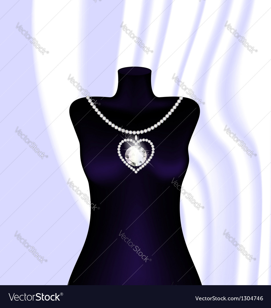 Jewel necklace vector | Price: 1 Credit (USD $1)