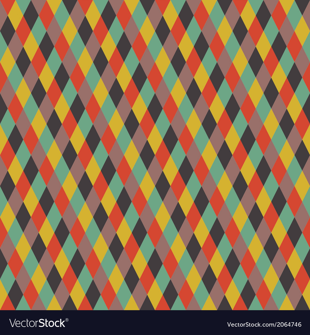 Rhombic seamless pattern vector   Price: 1 Credit (USD $1)