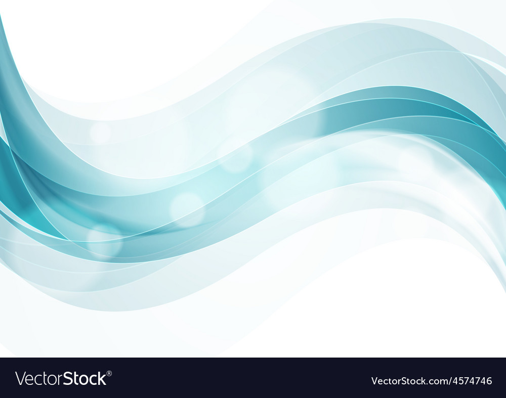 Shiny smooth waves abstract background vector | Price: 1 Credit (USD $1)