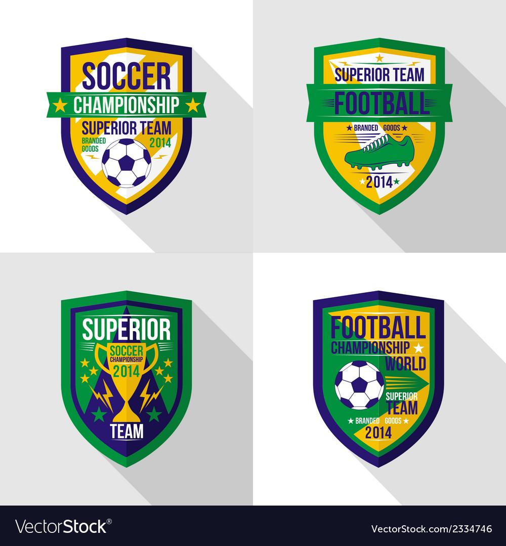 Soccer world championship emblem superior team vector | Price: 1 Credit (USD $1)