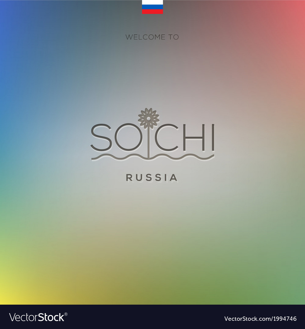 World cities - sochi banner vector | Price: 1 Credit (USD $1)