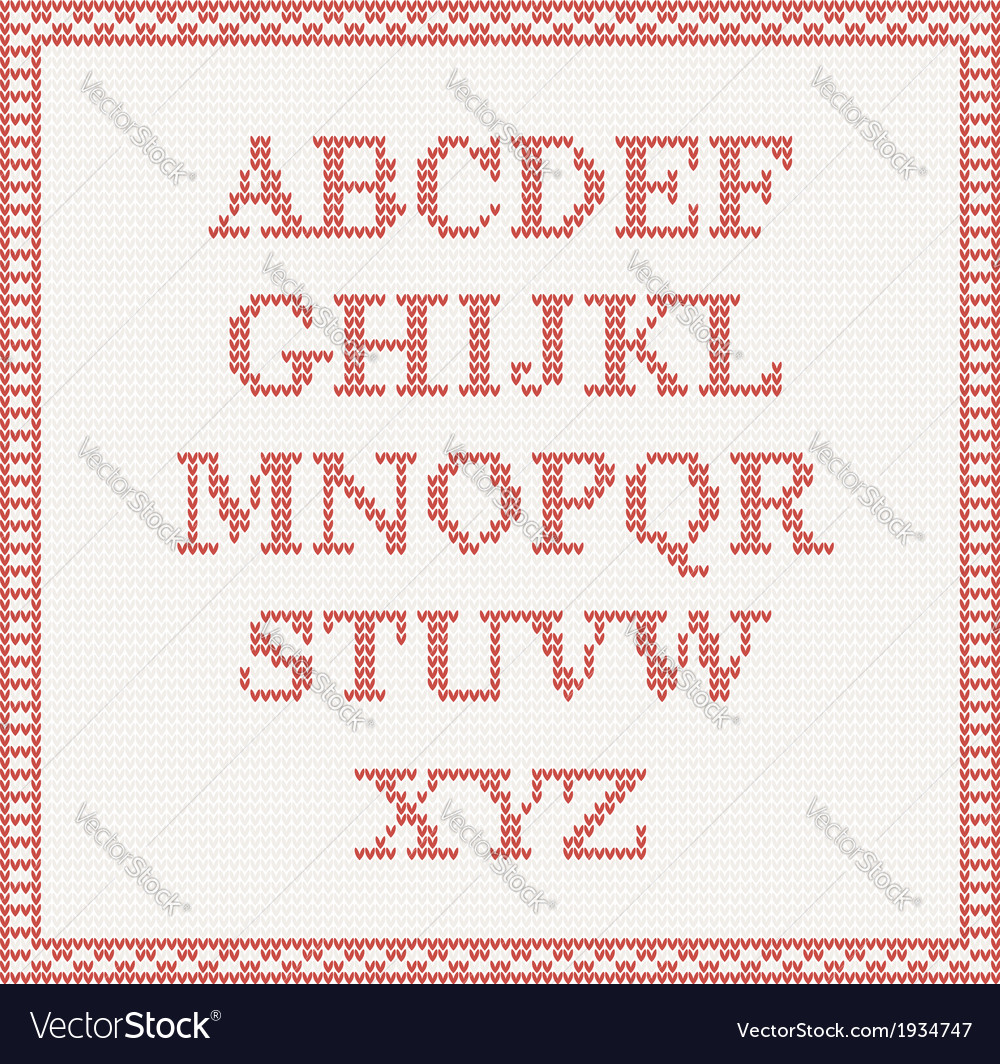 Christmas knitted font vector | Price: 1 Credit (USD $1)