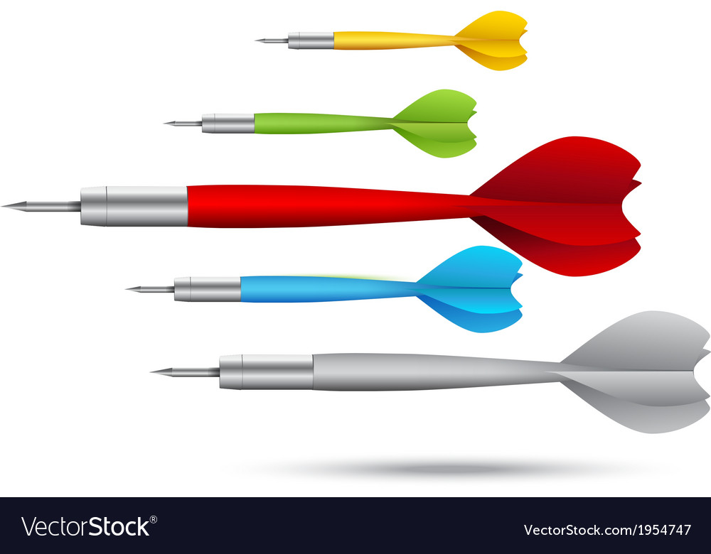Colorful darts background vector | Price: 1 Credit (USD $1)