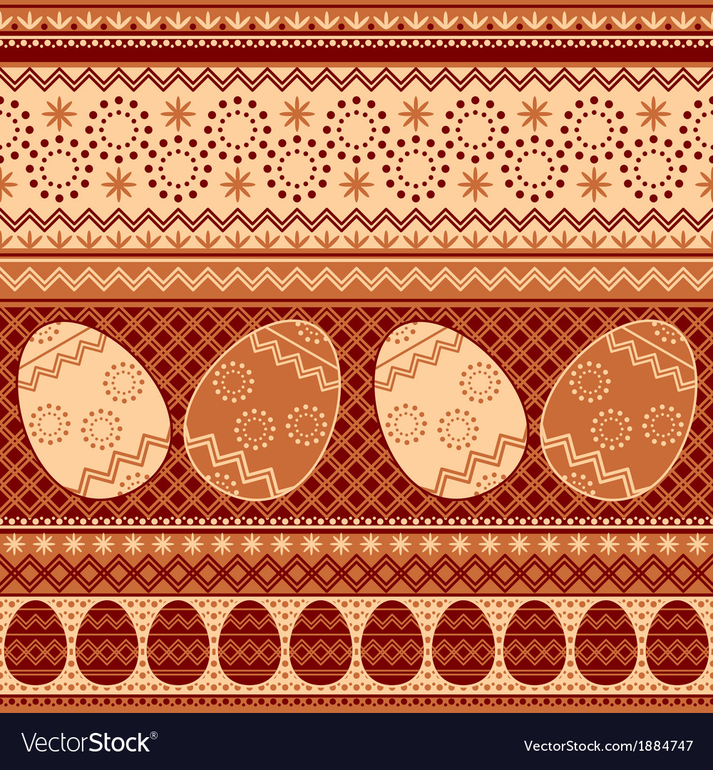 Easter pattern seamless vector | Price: 1 Credit (USD $1)
