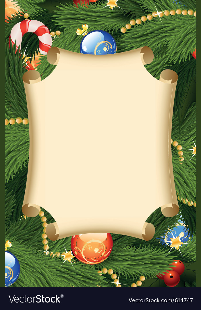 Fir-tree card decoration vector | Price: 3 Credit (USD $3)