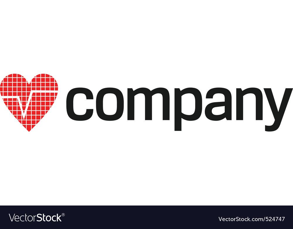 Heart beats logo vector   Price: 1 Credit (USD $1)