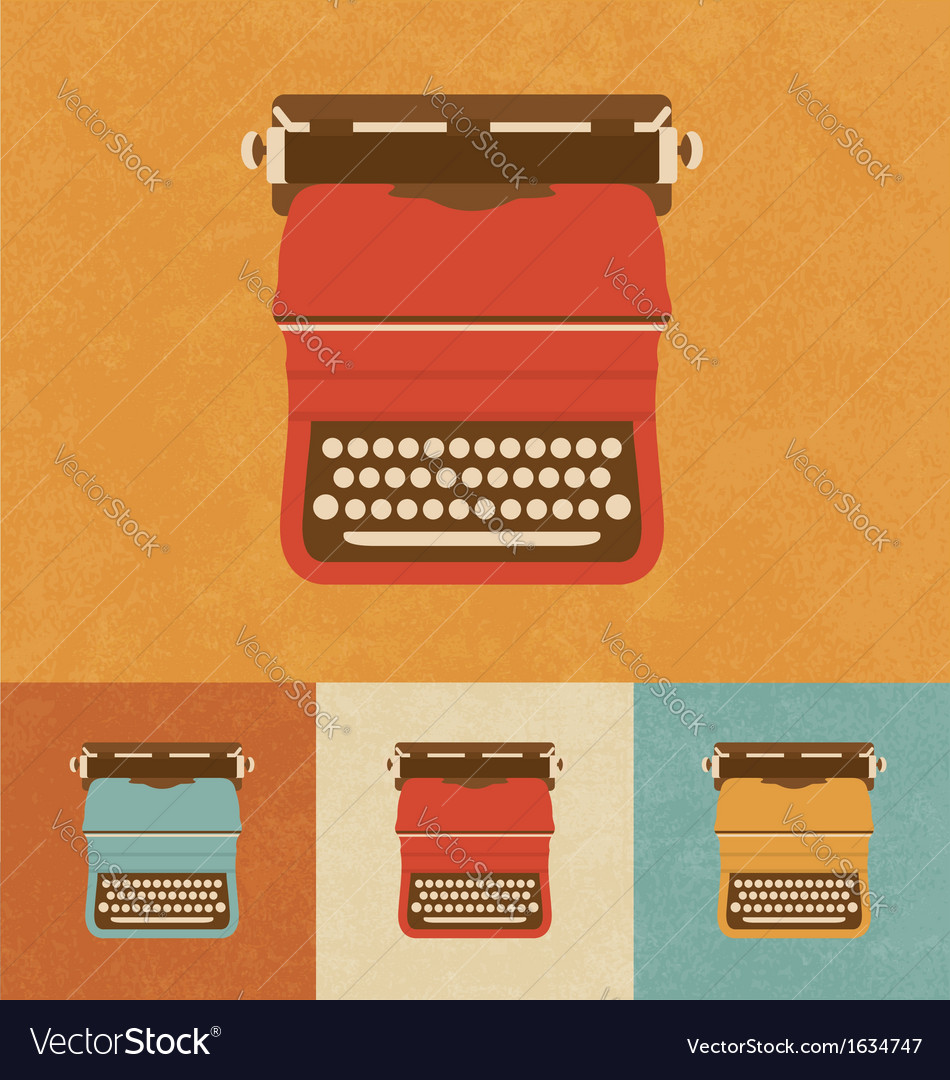 Retro typewriter vector | Price: 1 Credit (USD $1)