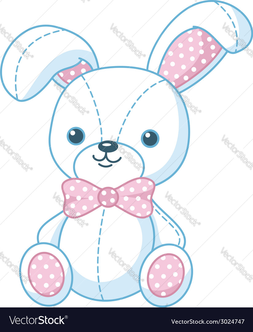 Soft toy bunny vector | Price: 1 Credit (USD $1)