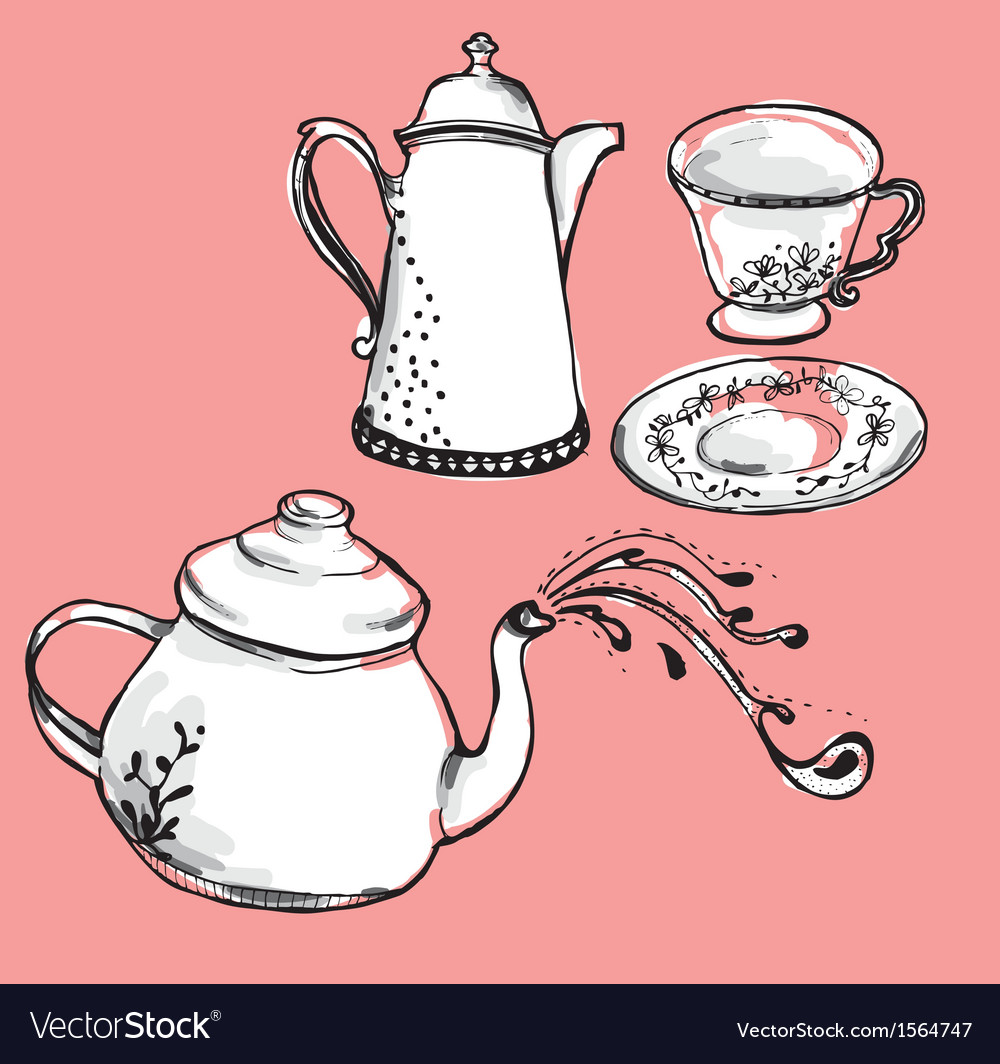 Tea pot vector | Price: 1 Credit (USD $1)