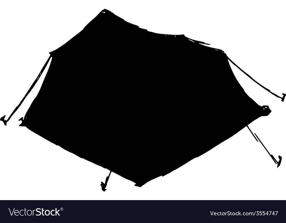 Touristic tent vector | Price: 1 Credit (USD $1)