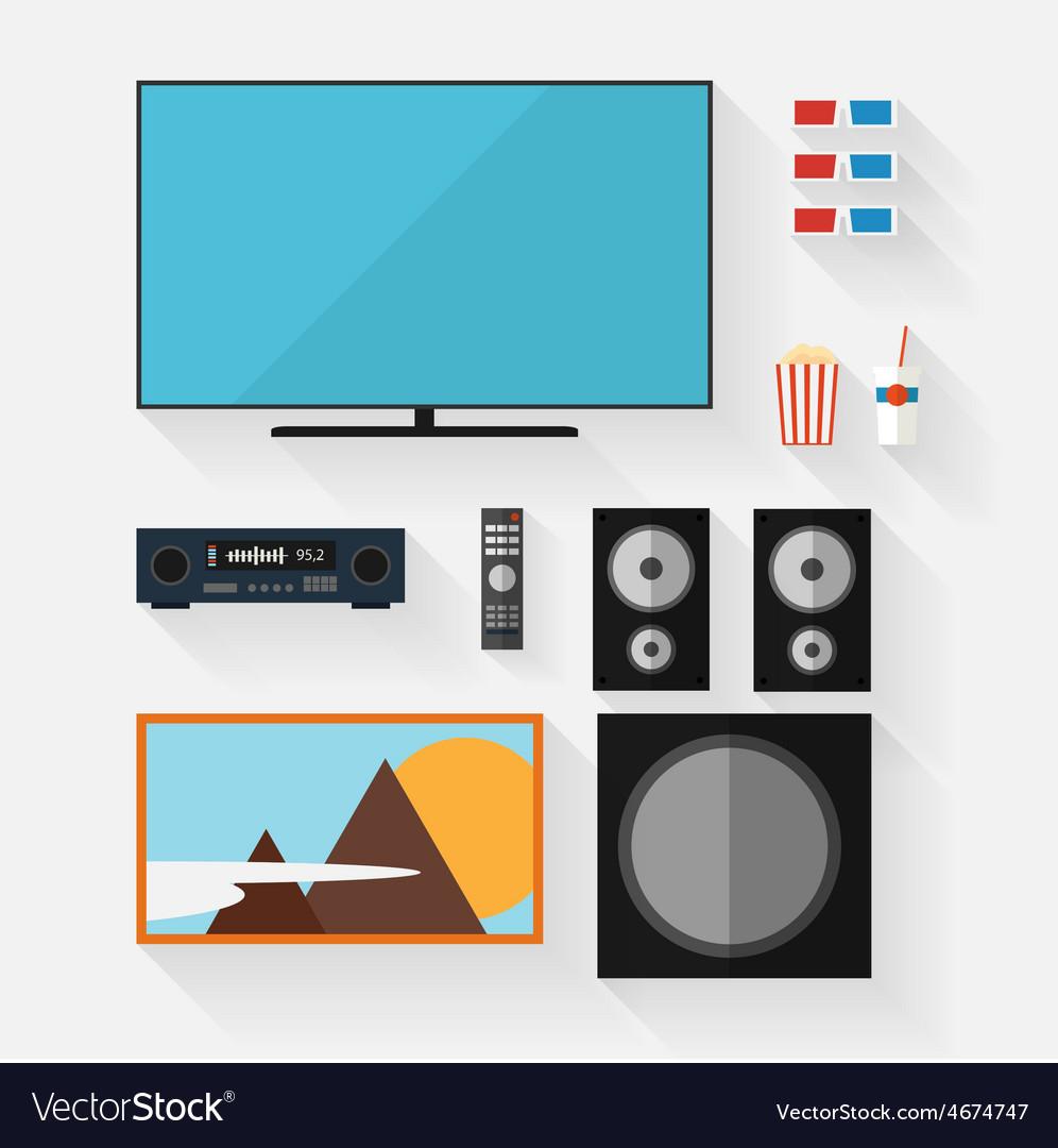 Video equipment icon set vector