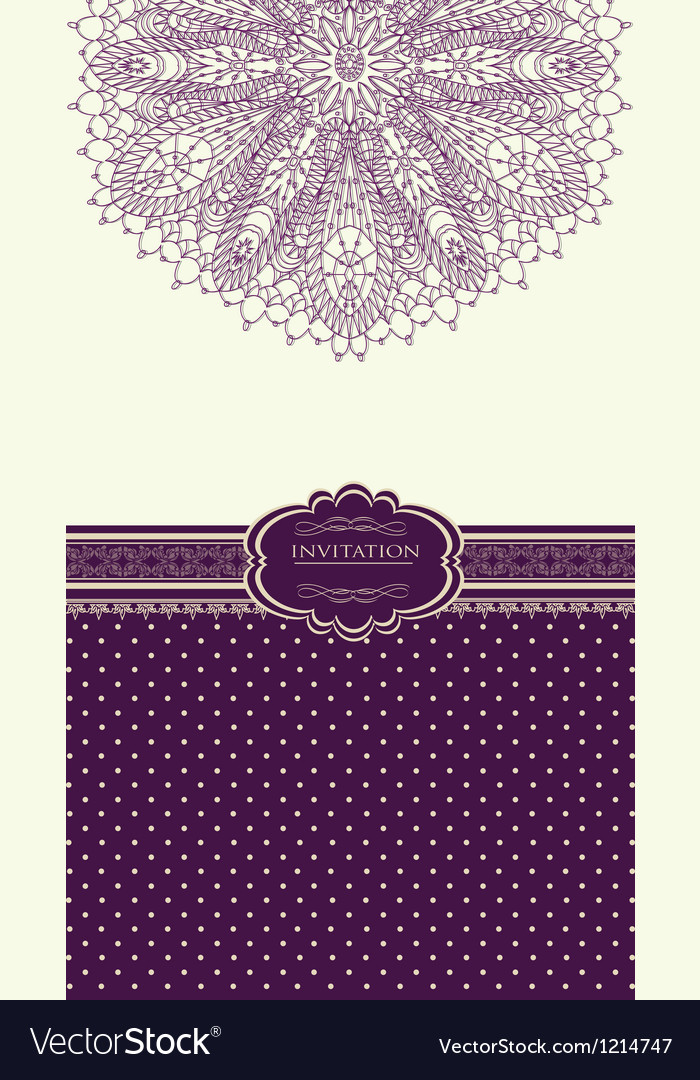 Vintage background for invitation card vector   Price: 1 Credit (USD $1)