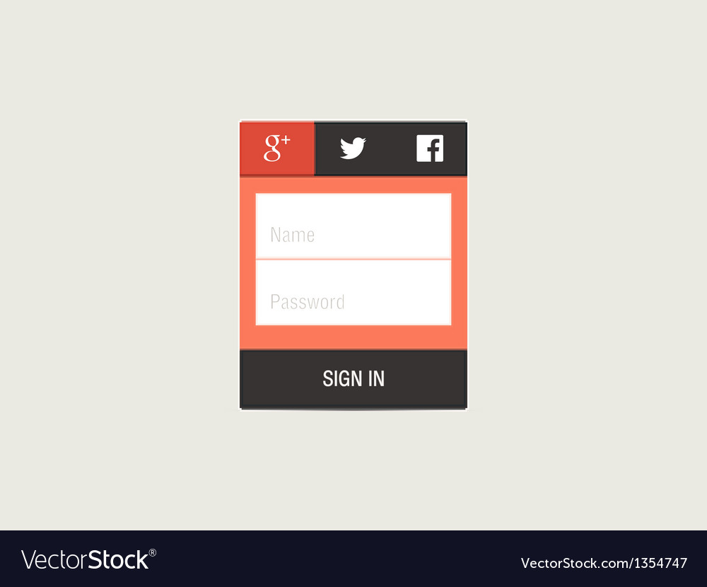 Web page login password security screen vector | Price: 1 Credit (USD $1)