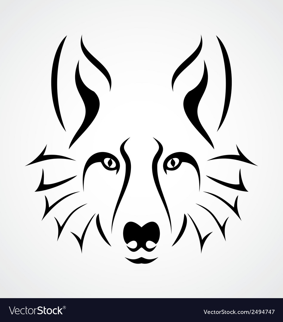 Wolf face tattoo vector | Price: 1 Credit (USD $1)