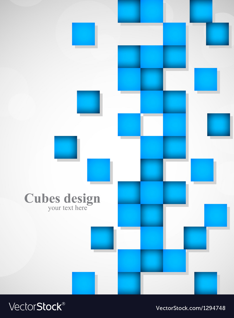 Abstract background with blue squares vector   Price: 1 Credit (USD $1)