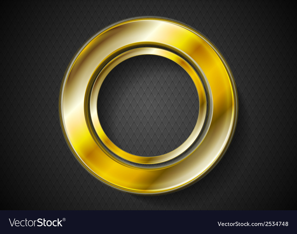 Abstract golden ring logo vector | Price: 1 Credit (USD $1)