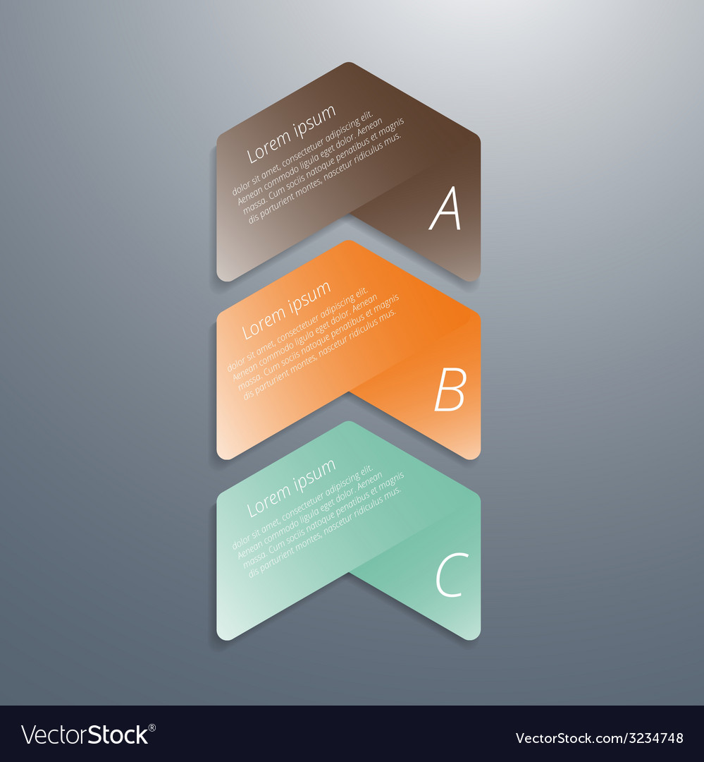 Abstract infographics template design vector | Price: 1 Credit (USD $1)