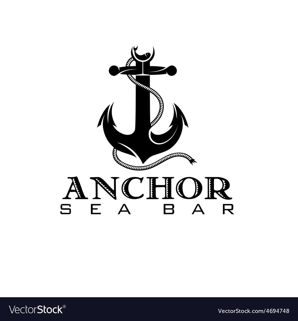 Anchor sea bar concept vector | Price: 1 Credit (USD $1)