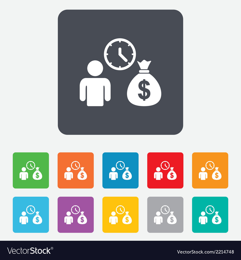 Bank loans sign icon get money fast symbol vector | Price: 1 Credit (USD $1)