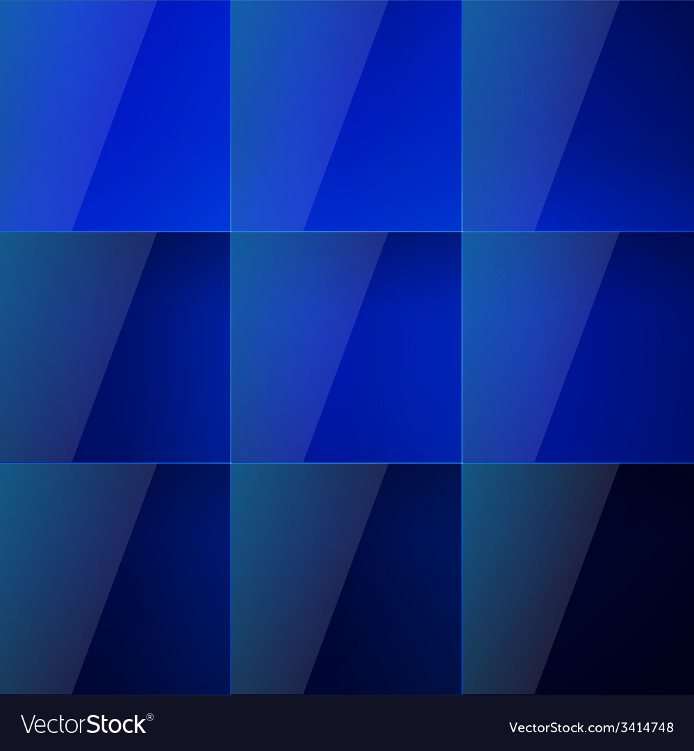 Blue aqua shiny squares abstract background vector | Price: 1 Credit (USD $1)
