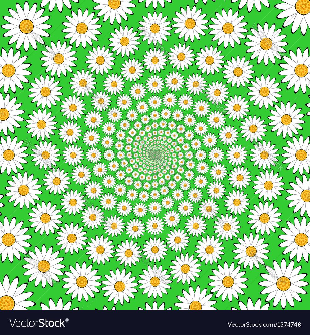 Design chamomile helix movement background vector   Price: 1 Credit (USD $1)