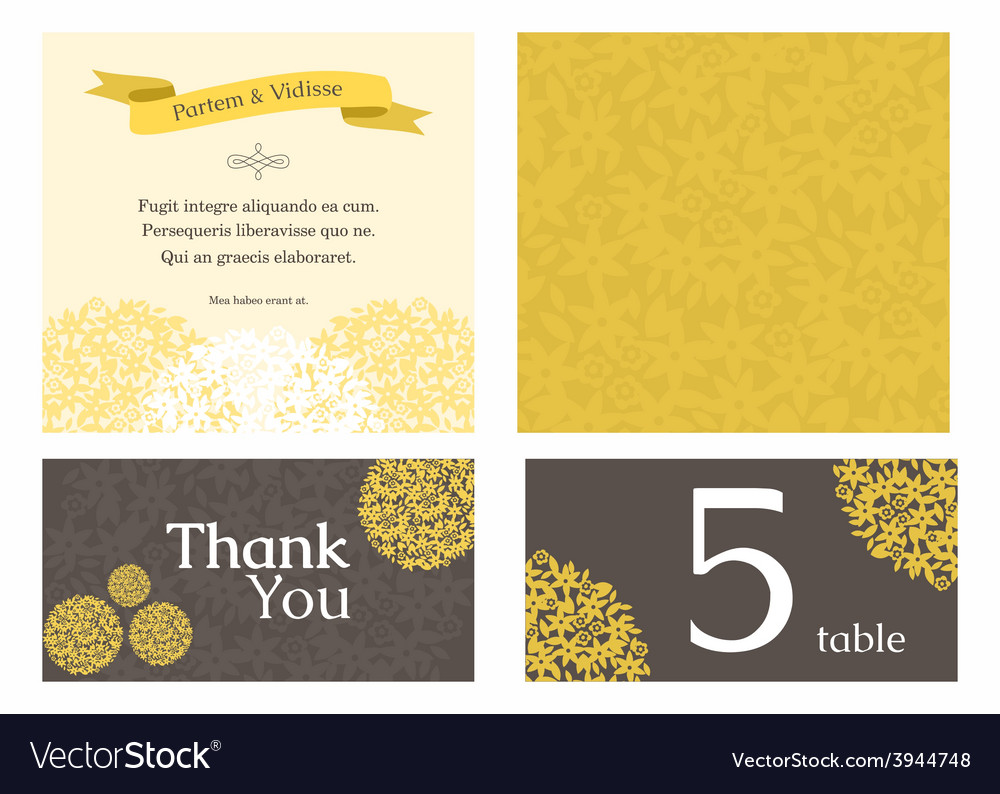 Design template of wedding invitation with vector   Price: 1 Credit (USD $1)