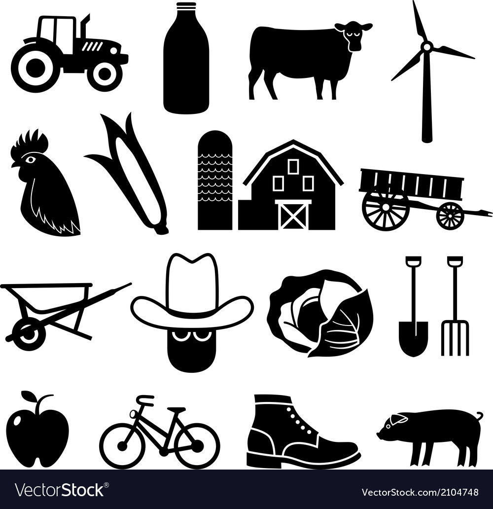 Farming and agriculture icons vector | Price: 1 Credit (USD $1)