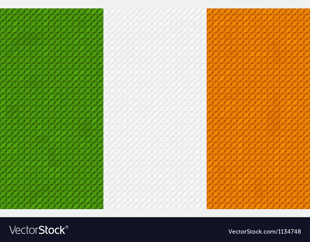 Irish flag background made with embroidery vector | Price: 1 Credit (USD $1)