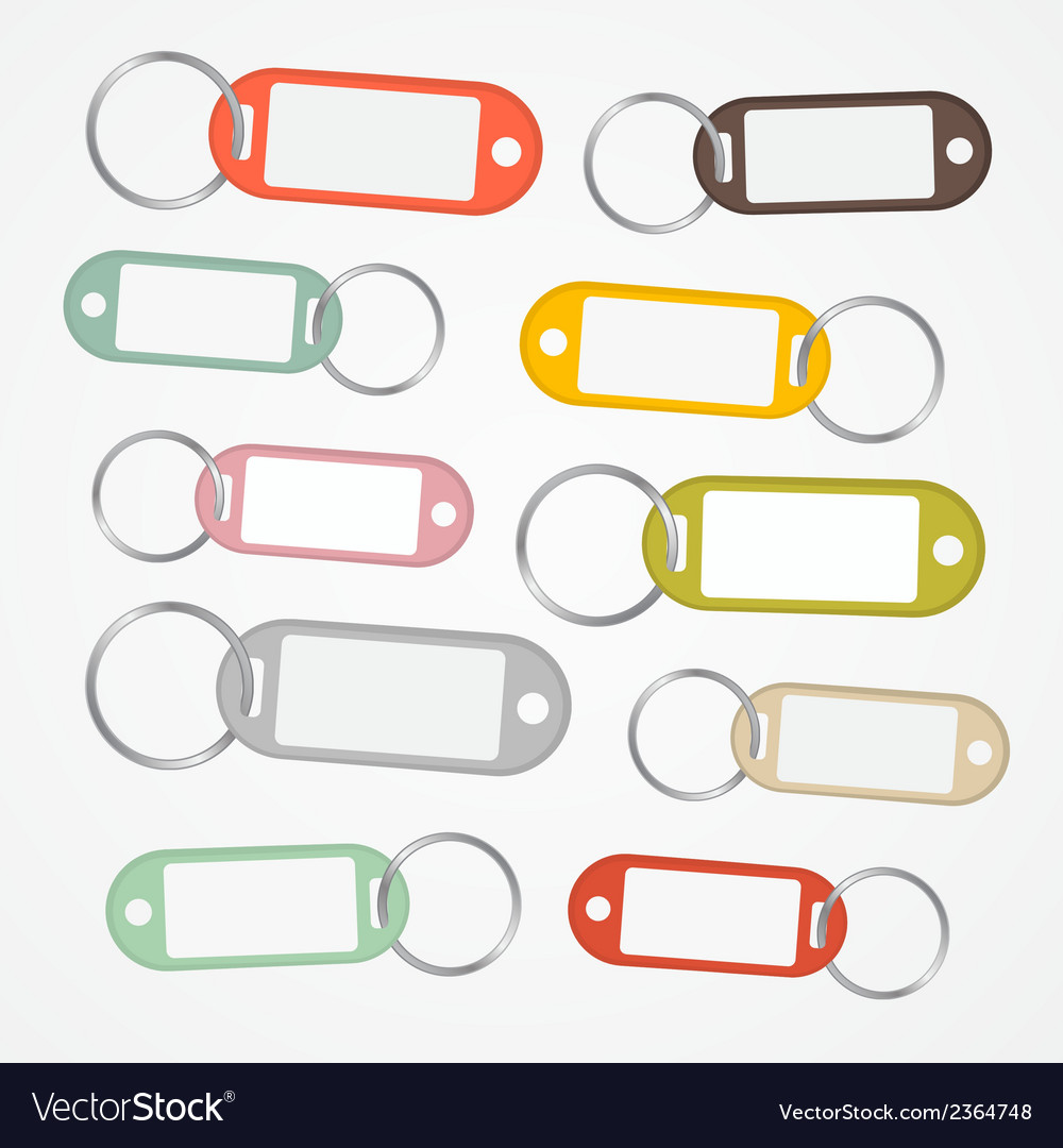 Key labels set with rings vector   Price: 1 Credit (USD $1)