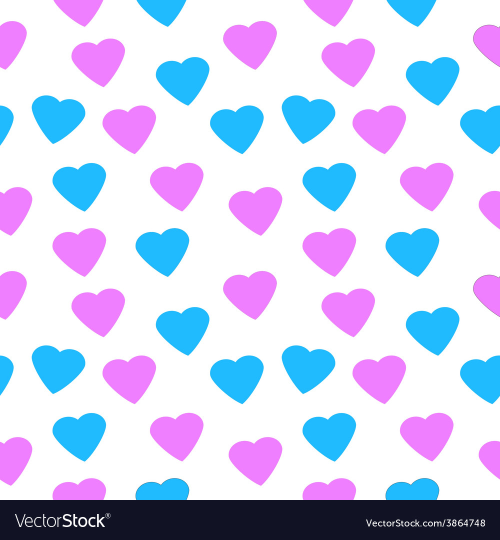 Love heart seamless pattern vector | Price: 1 Credit (USD $1)