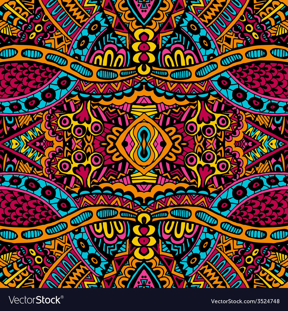 Ornamental vintage ethnic seamless pattern vector | Price: 1 Credit (USD $1)