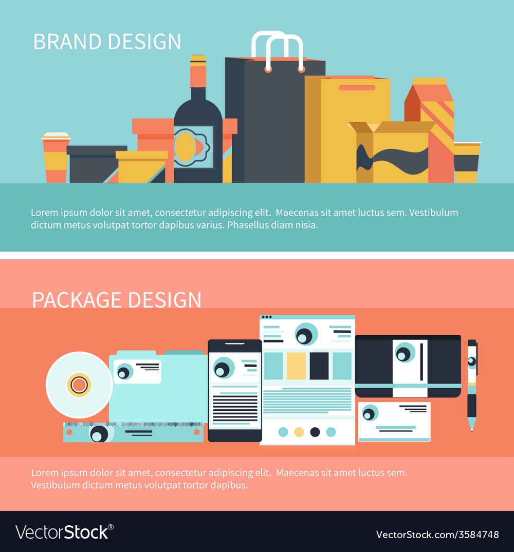 Package and brand design vector | Price: 1 Credit (USD $1)