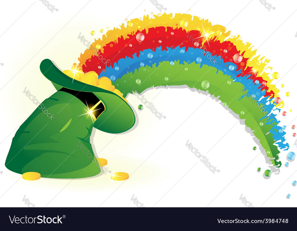 Rainbow and leprechaun hat vector | Price: 1 Credit (USD $1)