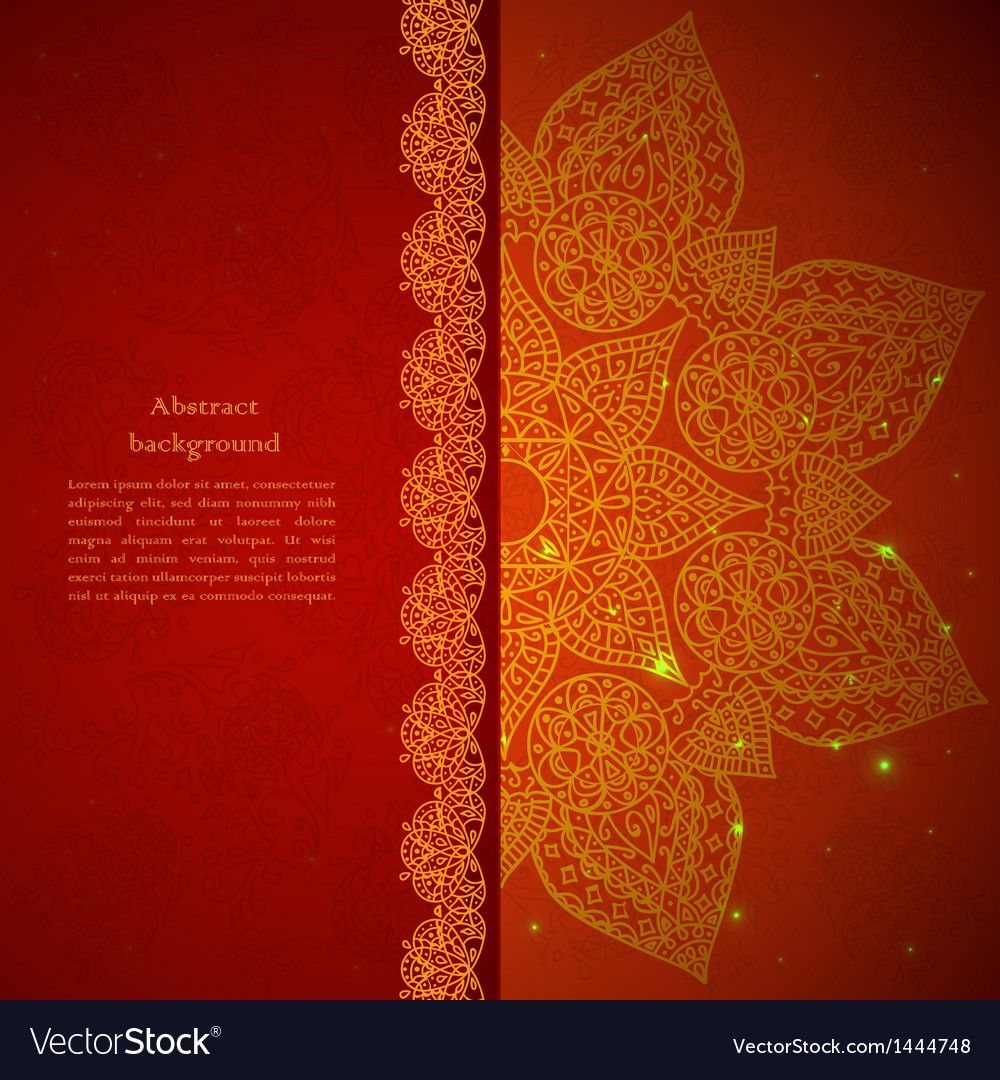 Vintage indian ornament vector | Price: 1 Credit (USD $1)