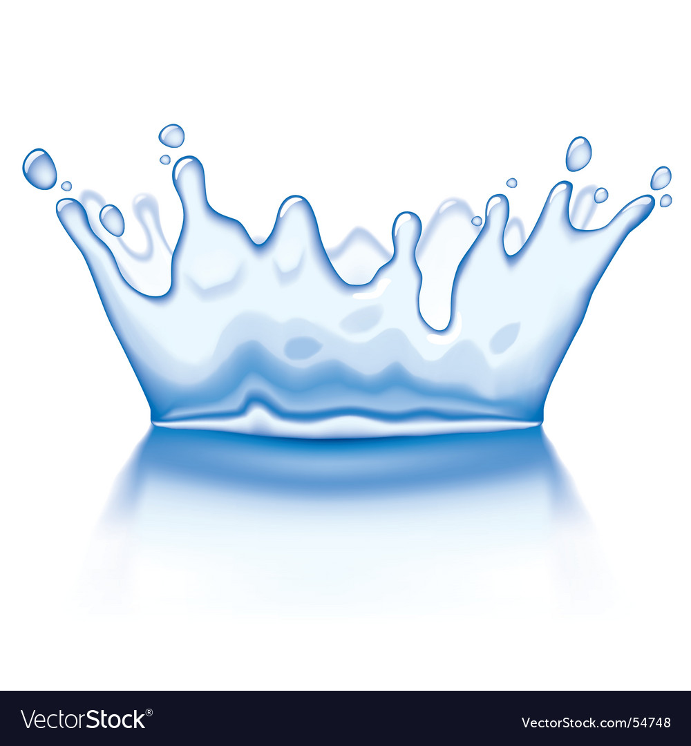 Water crown vector | Price: 1 Credit (USD $1)