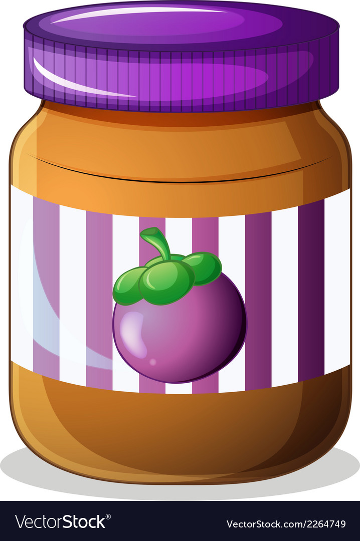 A jar of eggplant jam vector | Price: 1 Credit (USD $1)