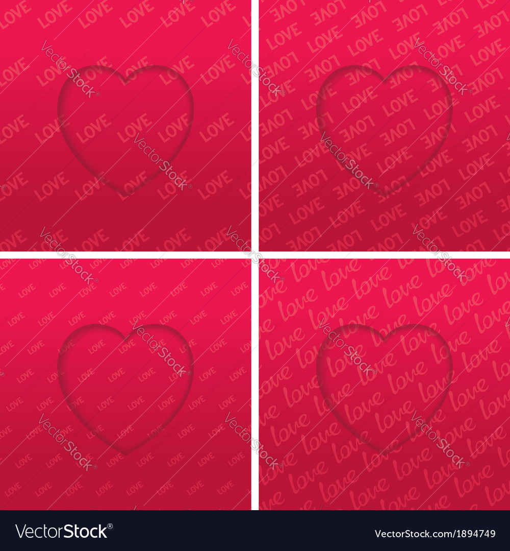 Abstract hearts set vector | Price: 1 Credit (USD $1)