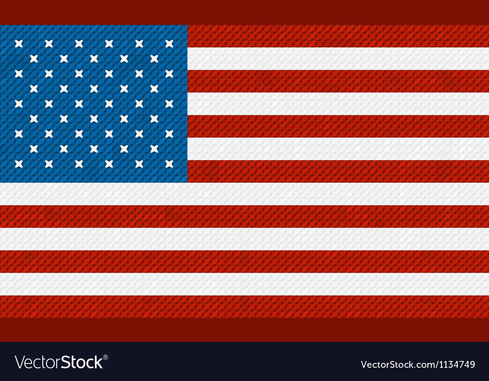 American flag background made with embroidery vector | Price: 1 Credit (USD $1)
