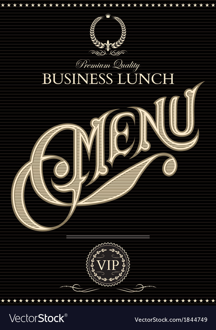 Black template for the cover of the menu vector | Price: 1 Credit (USD $1)