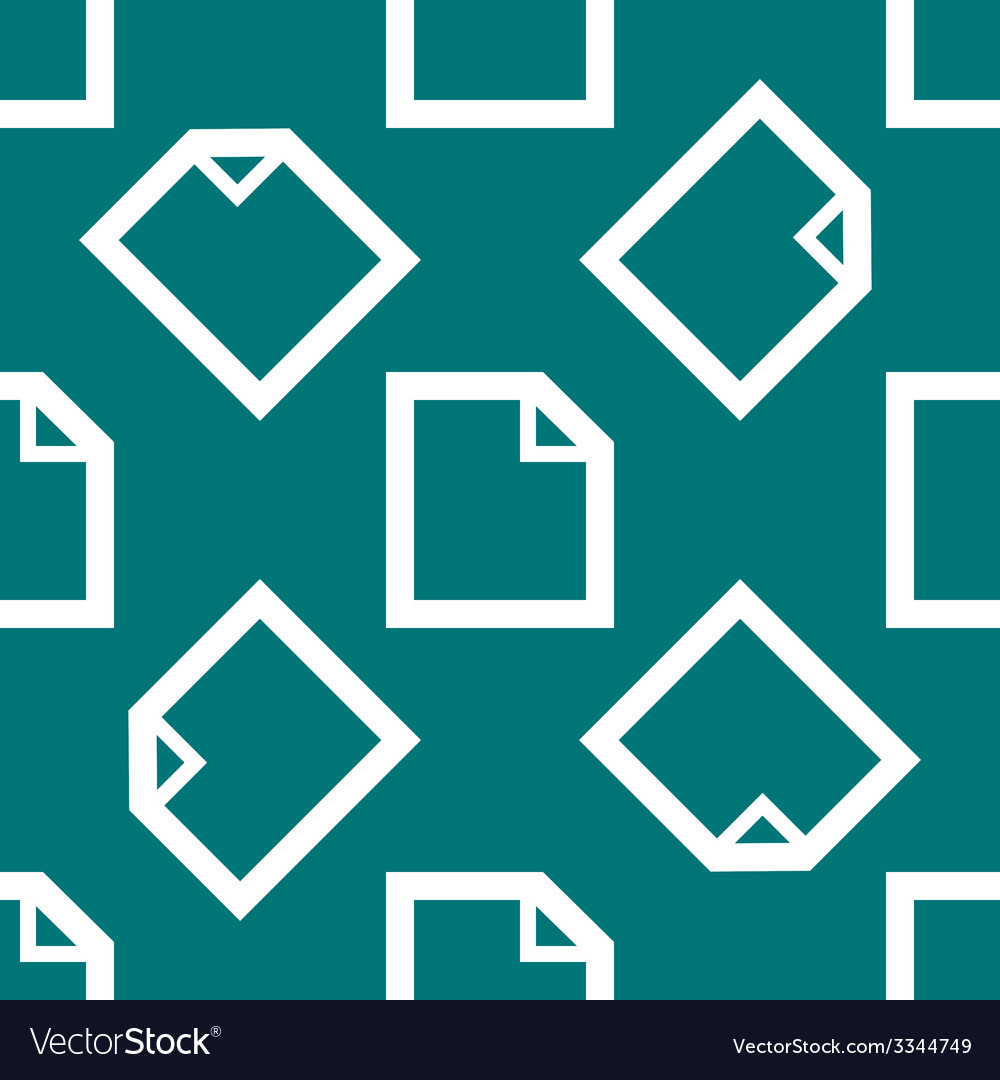 Blank paper web icon flat design seamless pattern vector   Price: 1 Credit (USD $1)