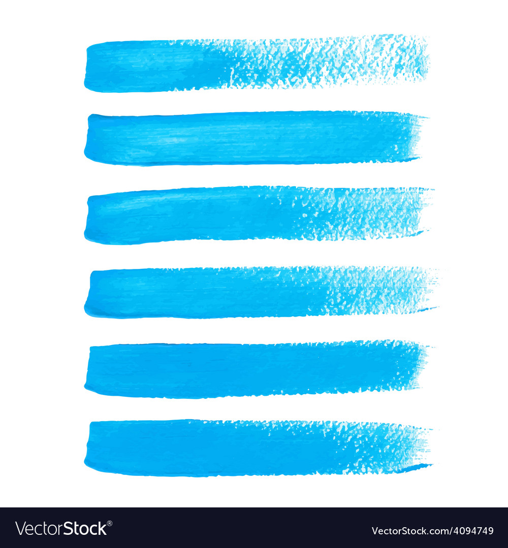 Bright blue ink brush strokes vector | Price: 1 Credit (USD $1)