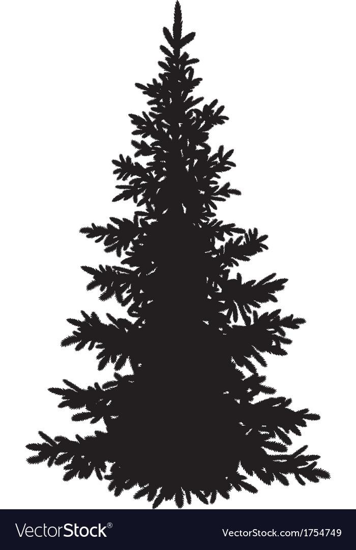 Christmas fir tree silhouette vector | Price: 1 Credit (USD $1)