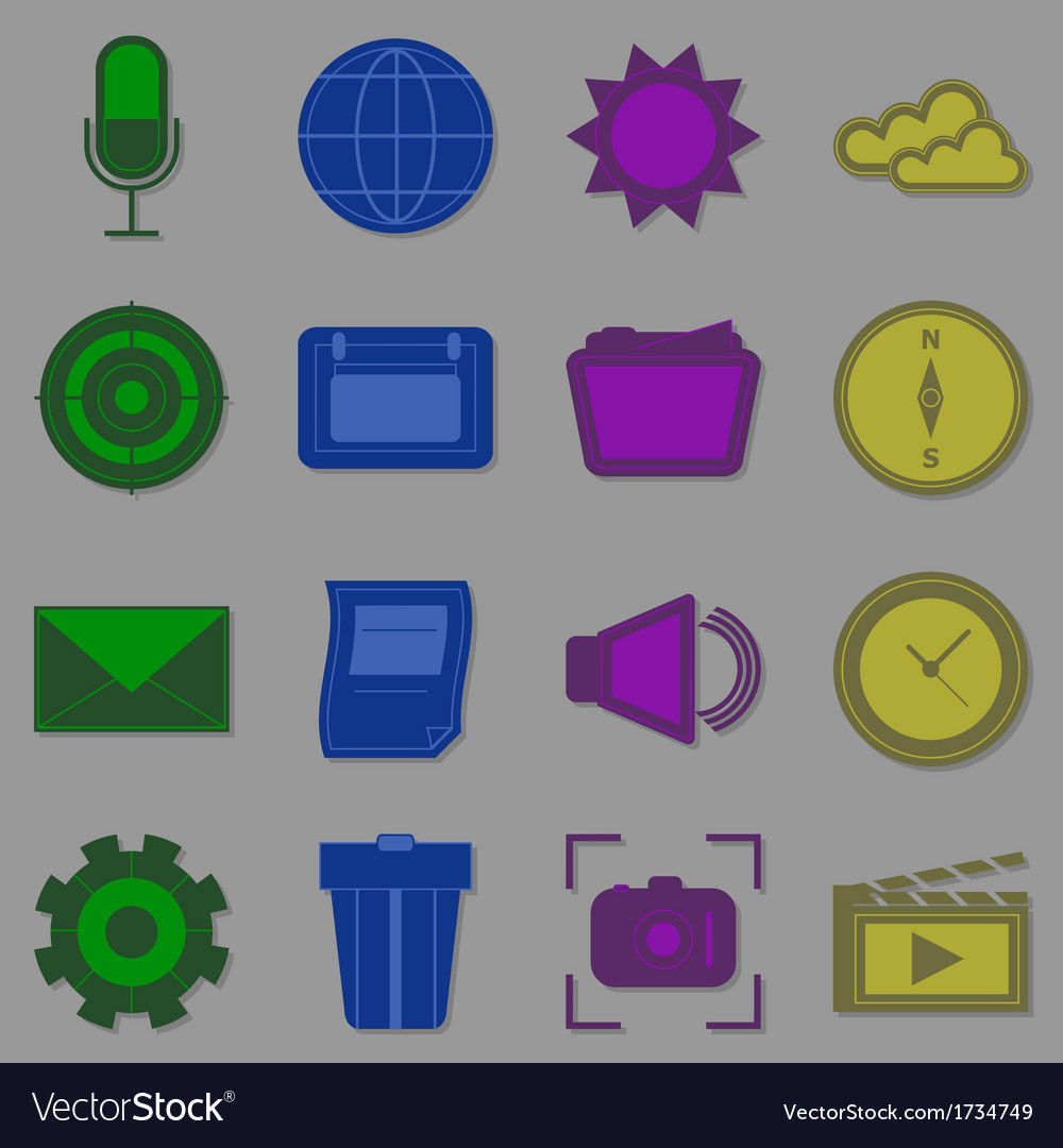 Create function icons for internet vector | Price: 1 Credit (USD $1)