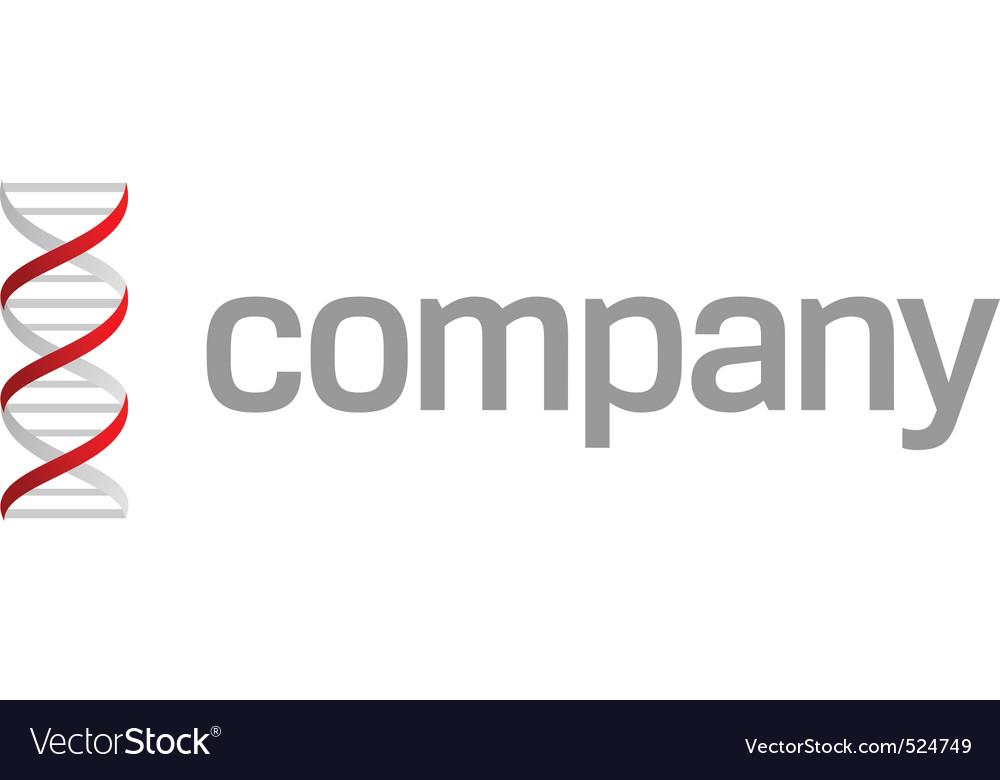 Dna strand logo vector | Price: 1 Credit (USD $1)