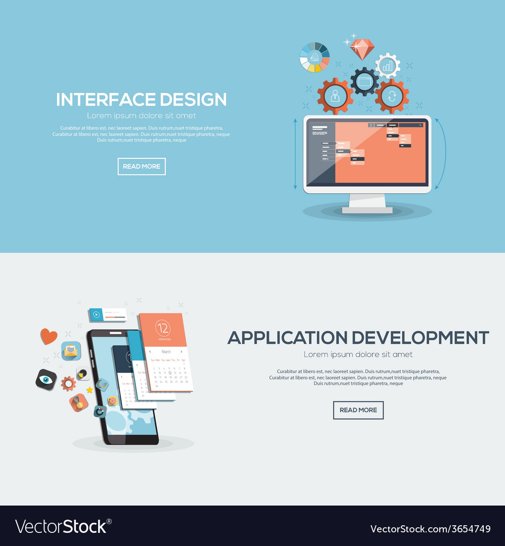 Flat design concept 2 vector | Price: 1 Credit (USD $1)